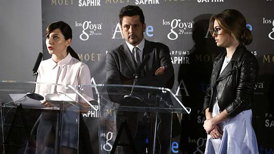 Lectura de las nominaciones a los Premios Goya 2015