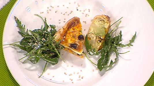 Tarta de romanesco a los tres quesos