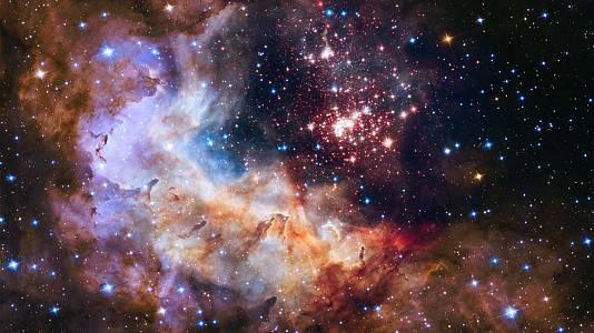 El cúmulo estelar Westerlund 2 captado por Hubble