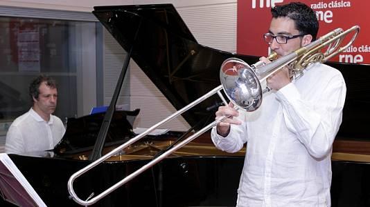Ximo Vicedo (trombón) y Pepe Gallego (piano)