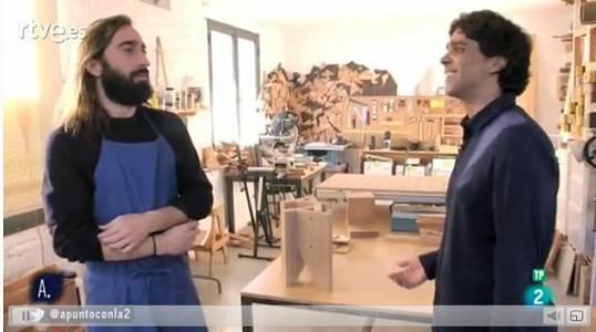 Guillem Augé visita la casa-taller de Marc Morro
