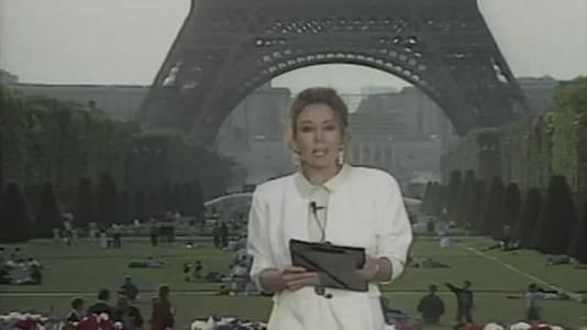 Primer telediario de TVE rodado en exteriores (1989)