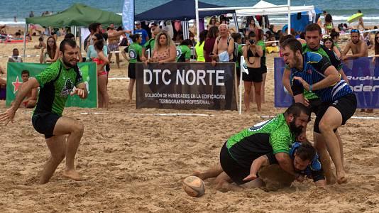 Pataliebres y Rhinas se hacen con el Torneo de Rugby playa 7 del CRS