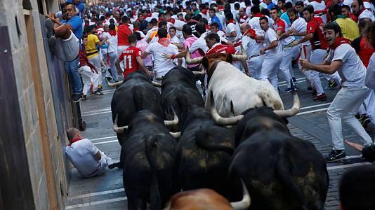 Sexto encierro de Sanfermines 2017 con toros de Victoriano del Río