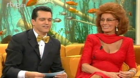 Sofía Loren, Jordi Hurtado, Paloma Gómez Borrero y M. Royo