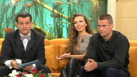 Thalia, Mark Vanderloo, Arévalo y Eugenia Santana