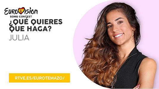 """Eurotemazo: versión final de Qué quieres que haga"""", Julia"""