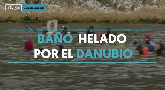 ¿Te darías un baño helado en el Danubio?