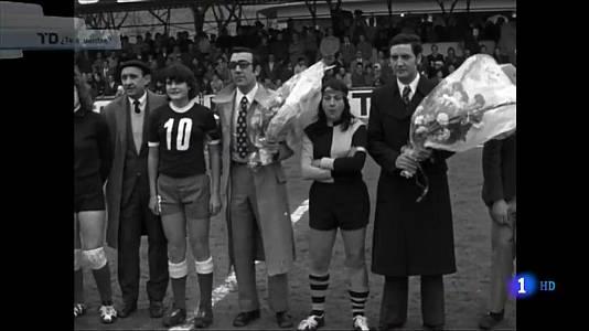 El primer partido de fútbol femenino de España