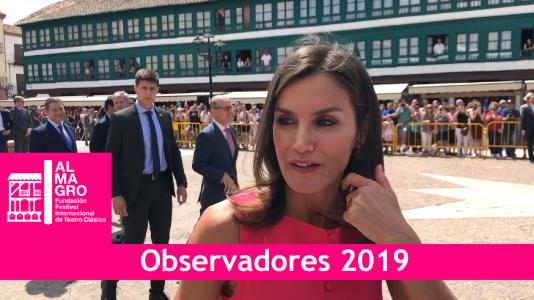 La reina Letizia entrega premios en Almagro