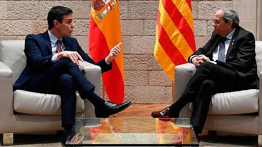 La reunió entre els presidents Sánchez i Torra