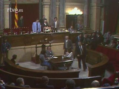 Heribert Barrera, president del Parlament i primer discurs