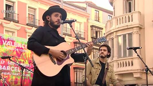 Concierto de Morat en la plaza del Callao de Madrid
