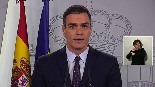 Coronavirus: Rueda de prensa de Pedro Sánchez - 18/03/20