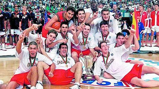 Baloncesto -  Mundial Junior 1999: España-EEUU
