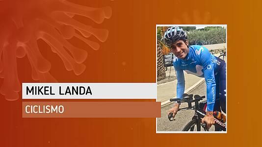 """Mikel Landa, ya en bici y en la carretera: """"Estoy contento y muy motivado"""""""