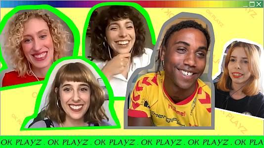 OK Playz con Leïti Sene y las actrices de Valeria