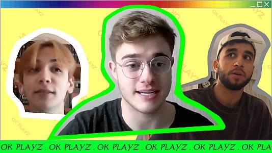 OK Playz con Gèrard, Hamza Zaidi y Dave Zulueta