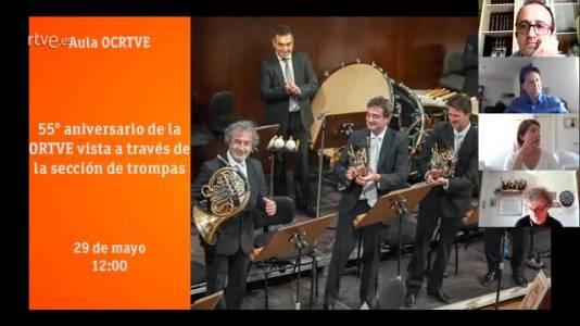 Aula OCRTVE Charla 55º aniversario ORTVE desde el punto de vista de la sección de trompas