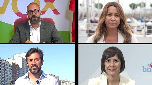 Los desayunos de TVE - Ricardo Morado, Candidato de VOX; Beatriz Pino, candidata de Ciudadanos; Antón Gómez-Reino, candidato de Galicia en Común; y Ana Pontón, candidata del BNG