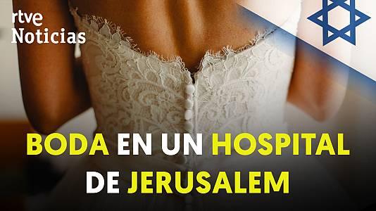 La boda de una pareja ultraortodoxa en un hospital de Jerusalén
