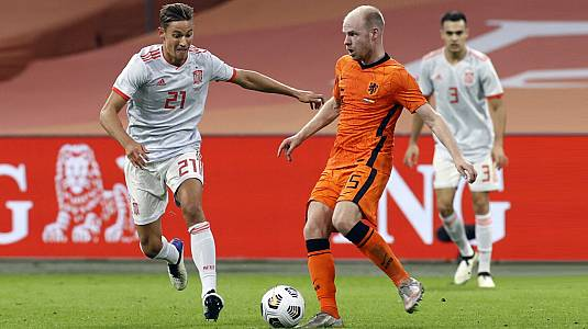 UEFA Amistosos 2020. Partido: Países Bajos - España