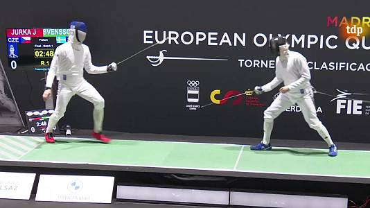 Torneo preolímpico. Espada masculina y florete femenino