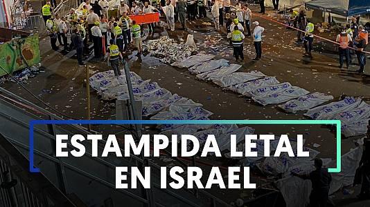 Estampida en celebración religiosa en Israel deja 45 muertos