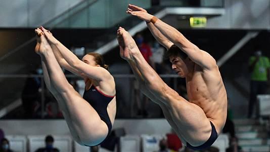 Campeonato de Europa. Saltos Final 3 m Sincronizados mixto