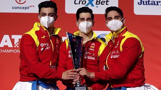 Campeonato de Europa Senior. Pódium Kata equipos