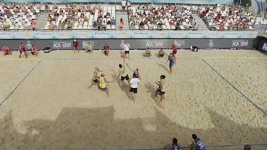 Balonmano playa - Copa de Europa de clubes 1/4 Final: Zagreb- Barbate