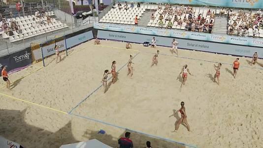 Balonmano playa - Copa de Europa de clubes 1/4 Final: A M Team Almería - BHC Plan B
