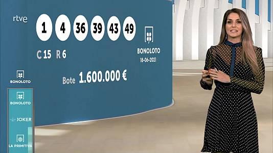 Sorteo de la Bonoloto y Euromillones del 18/06/2021