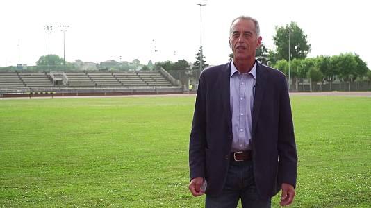 José Manuel Abascal y Orlando Ortega, med.1500m y 110 vallas