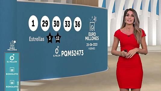 Sorteo de la Bonoloto y Euromillones del 25/06/2021