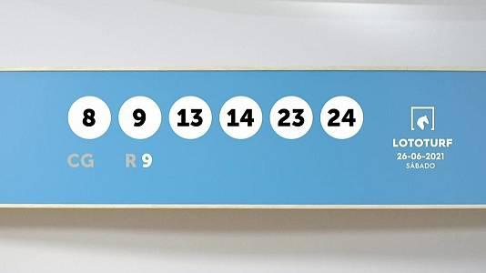 Sorteo de la Lotería Lototurf del 26/06/2021