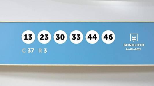 Sorteo de la Lotería Bonoloto del 26/06/2021