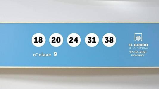 Sorteo de la Lotería Gordo de la Primitiva del 27/06/2021