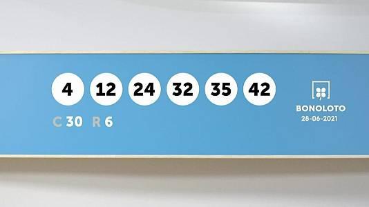Sorteo de la Lotería Bonoloto del 28/06/2021