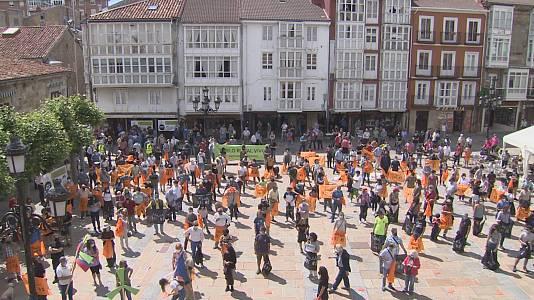 Reinosa acogió el pasado fin de semana una concentración en contra de los parques eólicos