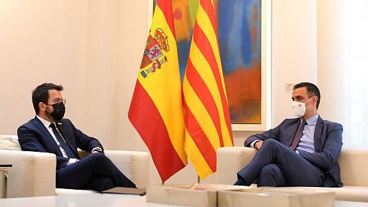 Sánchez y Aragonès acuerdan reactivar la mesa de diálogo la tercera semana de septiembre