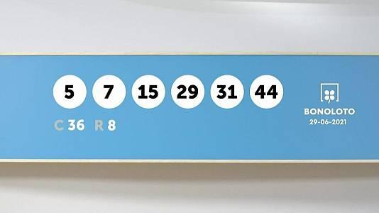 Sorteo de la Lotería Bonoloto y Euromillones del 29/06/2021