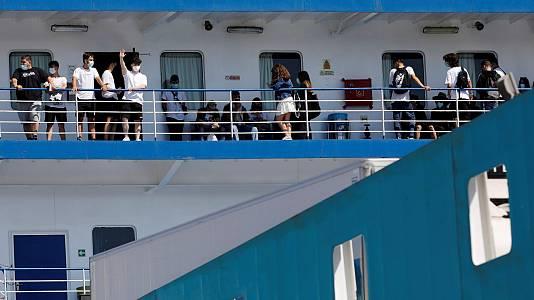 Cinco estudiantes trasladados a la península dan positivo