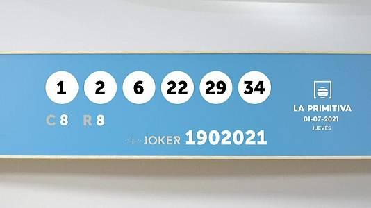 Sorteo de la Lotería Primitiva y Joker del 01/07/2021