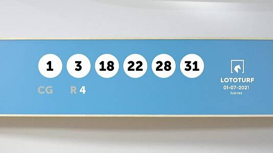 Sorteo de la Lotería Lototurf del 01/07/2021