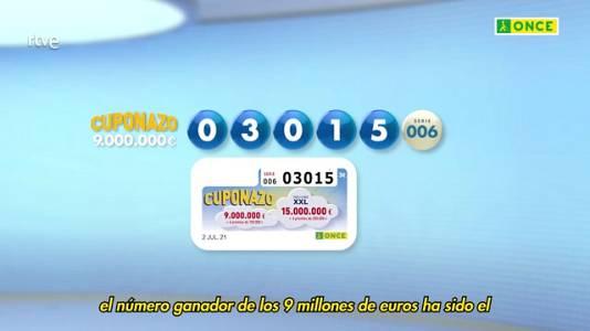 Sorteo ONCE - 02/07/21