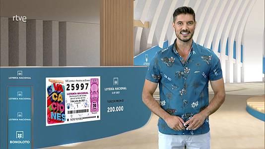 Sorteo de la Lotería Nacional del 03/07/2021