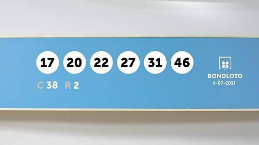 Sorteo de la Lotería Bonoloto y Euromillones del 06/07/2021