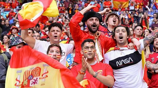 La afición española, satisfecha pese a la eliminación de España