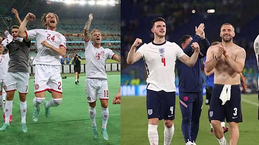 Dinamarca quiere volver a una final 29 años después e Inglaterra, seguir invicta en Wembley